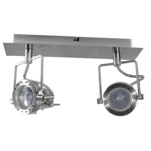 Plafonnier Import  IP20  2X50W 220/240V GU10/GZ10 Chrome satin