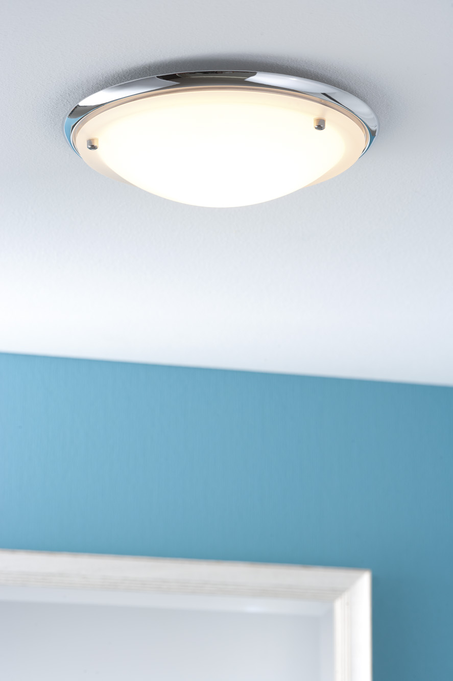 Plafonnier salle de bain paulmann arctus ip44 max 60w 230v for Plafonnier salle de bain