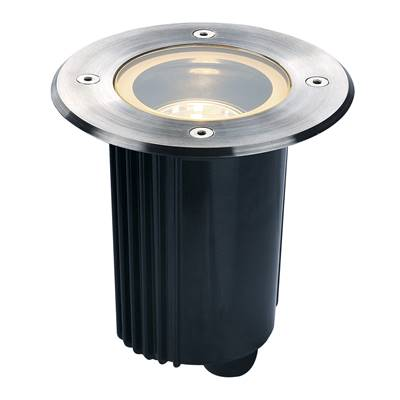 DASAR 80 MR16, orientable, rond, inox 316, max. 35W, IP67 SLV