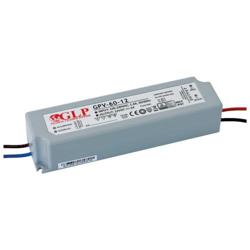 Alimentation électronique LED GLP 60W 240V/12VDC IP67 SELV
