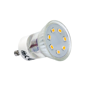 Lampe LED SMD diamètre 35mm GU10 230V 2.2W = 20W 120° Blanc chaud 3000 K