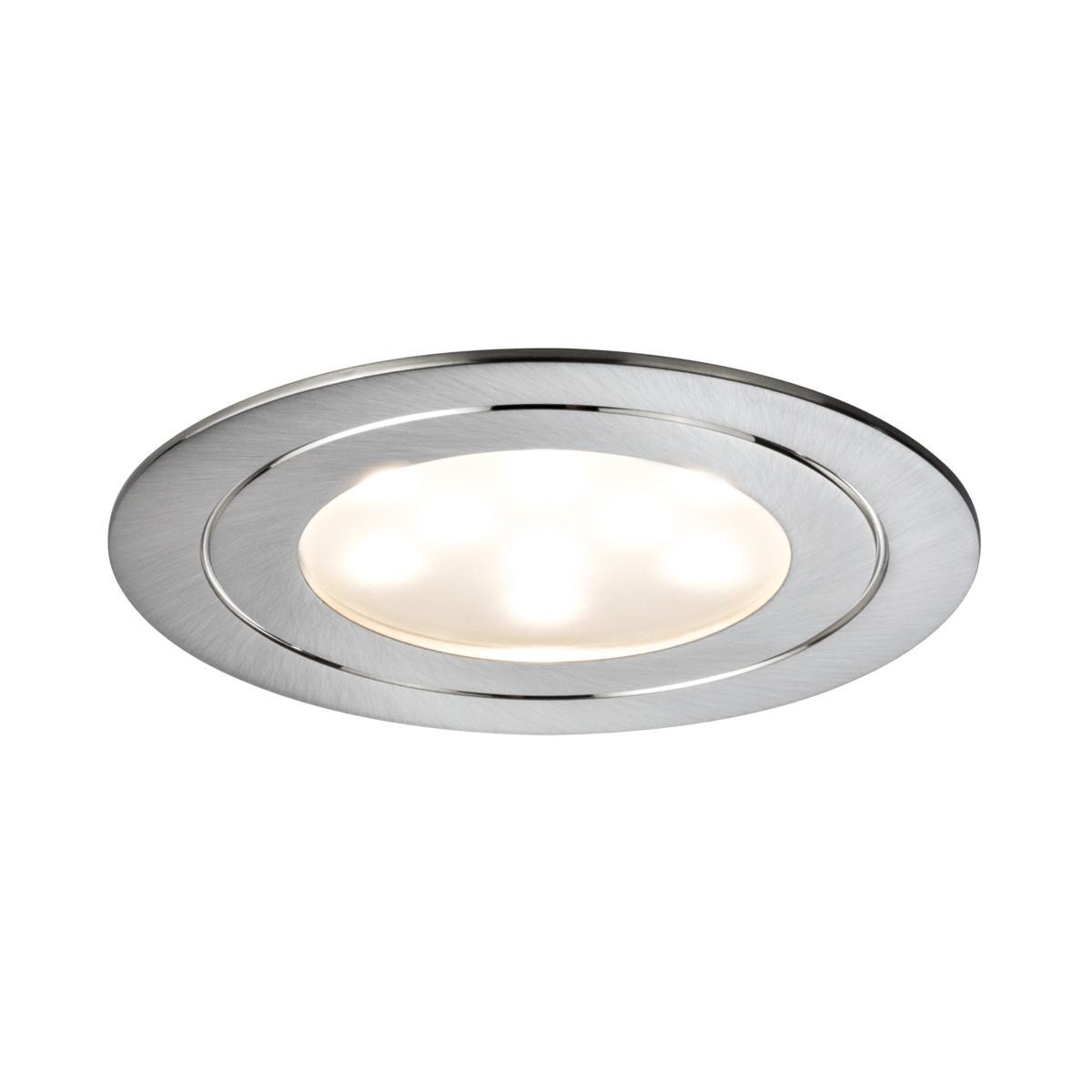 Incroyable Kit 3 Spots leds Extra plat 3 X 5.6W Alu Brossé Dimmable LED BI-83