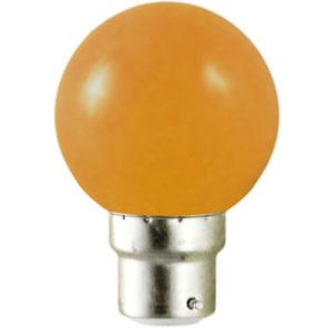 Ampoule led B22 1W rendu 10W Orange.