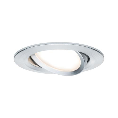 Spot LED encastrable Nova LED Coin 6.5W 230V alu tourné IP23 PAULMANN 93450