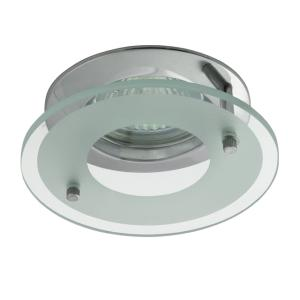 Spot encastrable 12V GU5,3 chrome et protection verre (Option 230V)