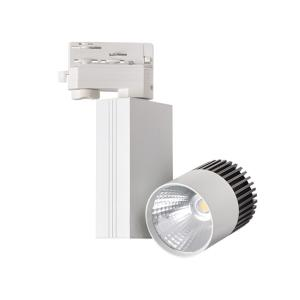 Projecteur led COB 11W 24° 4000K TRAKO Orientable sur rail triphasé.