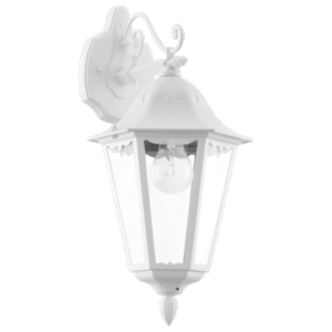 Applique lamp, descendante, Blanc, Verre Clair