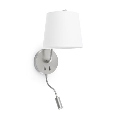 Liseuse led & applique E27 FARO Berni Nickel mat