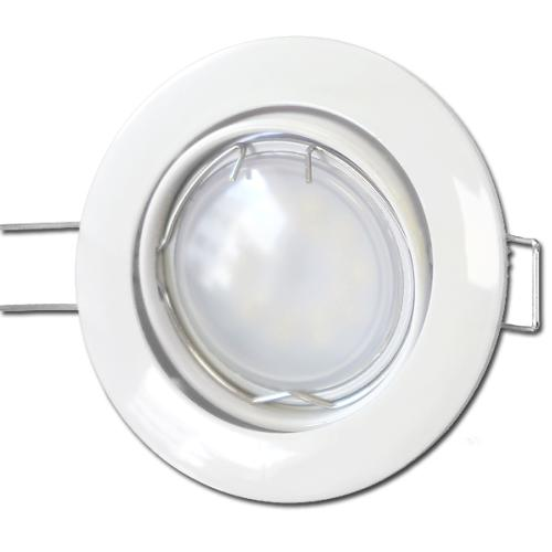 10 X Spots Led GU10 Encastrable Blanc Led 7W rendu 50W 120° Blanc Neutre.