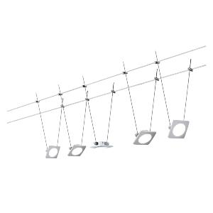 Kit câble tendu QuadLED 5X4W WIRE PAULMANN 94111