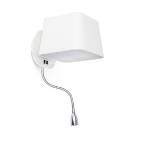 Liseuse led & applique E27 FARO Sweet Blanc.