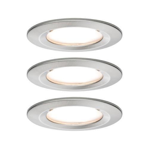 Lot de 3 Spots LED encastrables Nova LED Coin IP44 6.5W 230V PAULMANN 93458