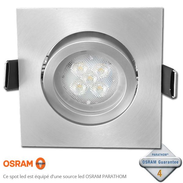 spot led gu10 encastrable acier bross led osram 4 6w. Black Bedroom Furniture Sets. Home Design Ideas