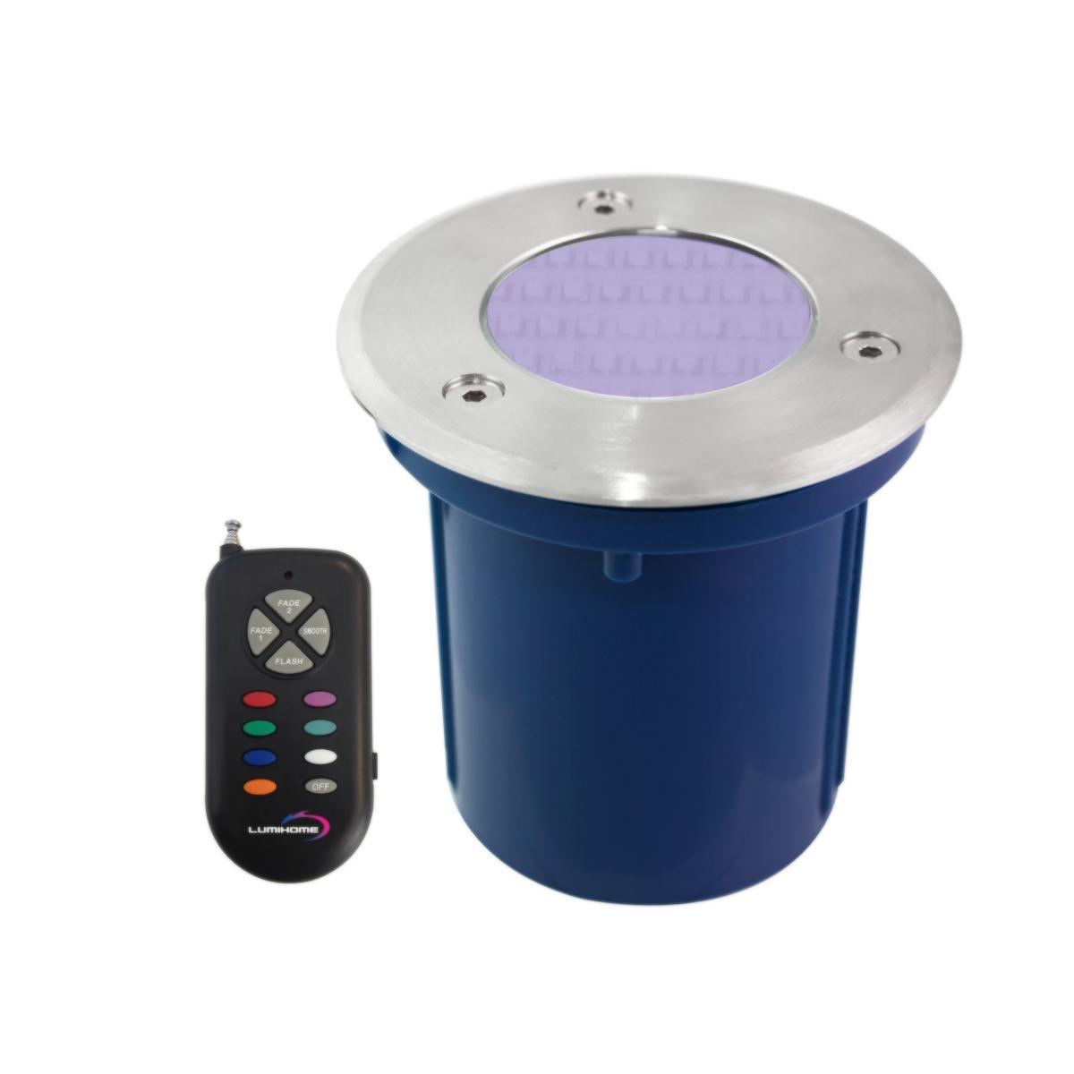 Spot led rgb encastrable inox 316 pour abords piscine 2w - Spot led ip65 12v ...