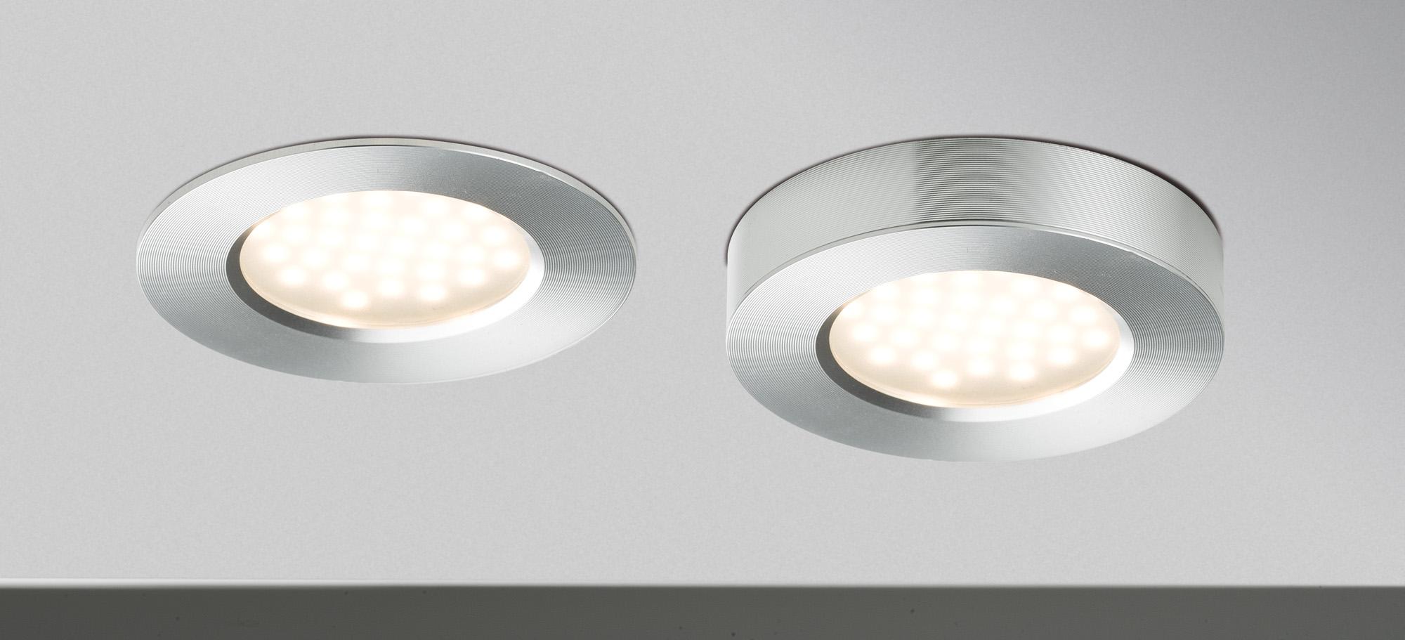 3 spots 3 x 3W extra plat LED intégrée Alu PAULMANN 93547