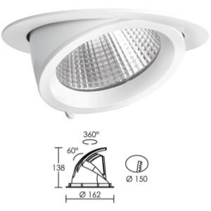 Encastré Downlight Rond LED ARIC RANDY 2. 25W 3000 K 2400 lm. 50191