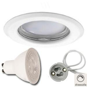 Spot Led GU10 Encastrable Dimmable 7W rendu 50W 120° Blanc Chaud