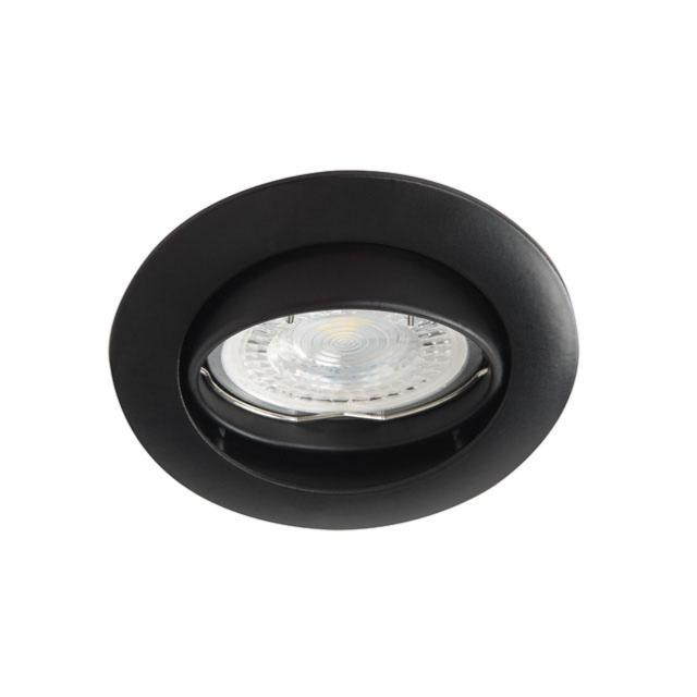 spot encastrable orientable rond noir mat pour led. Black Bedroom Furniture Sets. Home Design Ideas