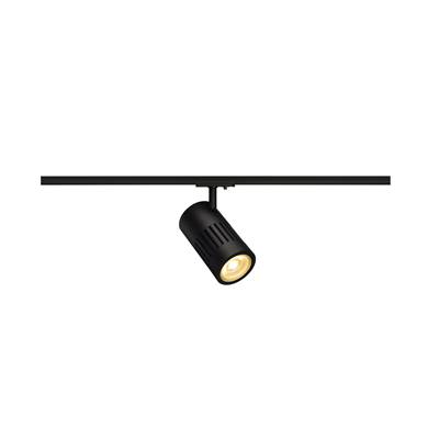 STRUCTEC LED 24W, noir, 3000K, 60°, adapt rail 1 all. inclus SLV
