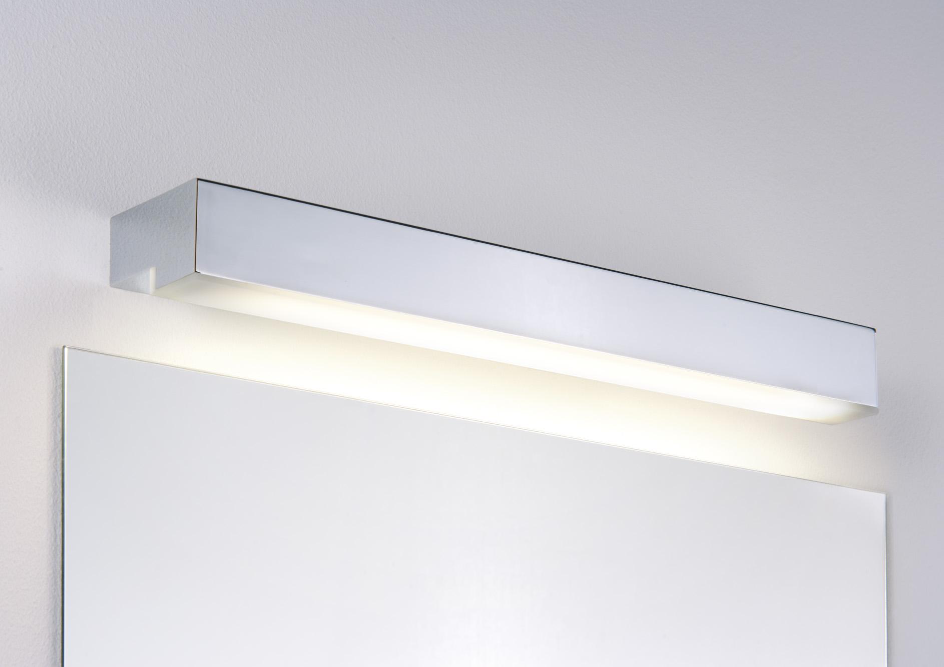 applique salle de bain paulmann taru ip44 1x14w 230v g5 t5 chrome blanc. Black Bedroom Furniture Sets. Home Design Ideas