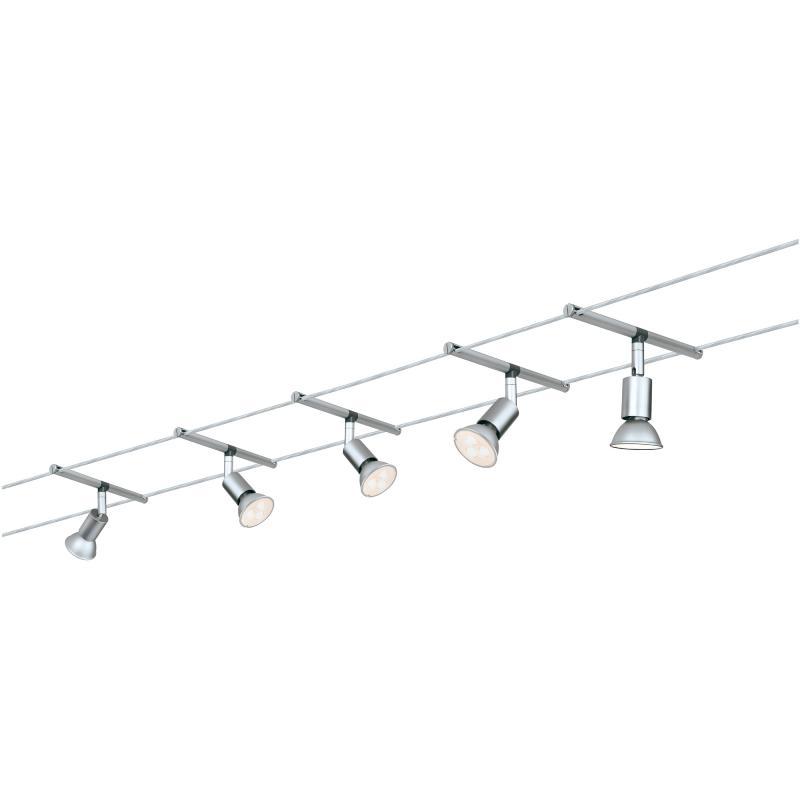 Spot sur c ble tendu kit saltled 5x4w wire paulmann 94124 - Spot cable tendu ...
