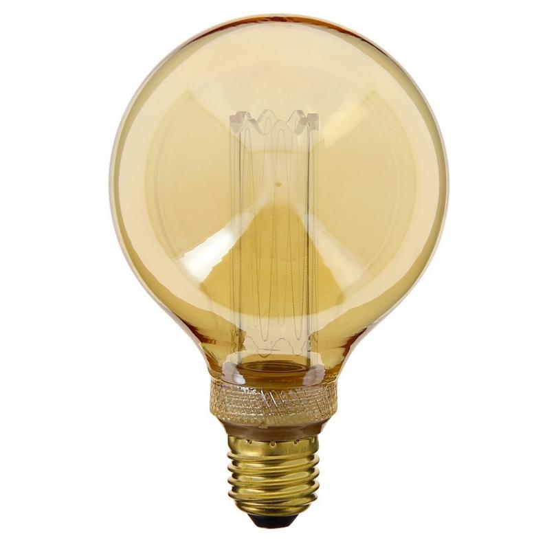 Globe Déco Blanc Hologramme Verre Chaud Vintage 95 Ambre Led E27 Ampoule oeCBWQdrx