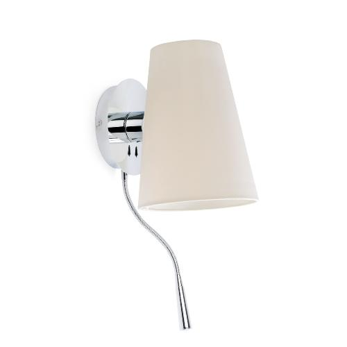 Liseuse led & applique E27 FARO Lupe Chrome
