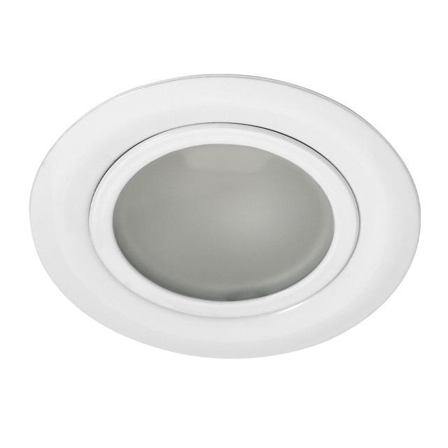 Spot encastrable 12v fixe g4 max 20w blanc for Spot encastrable led 12v salle de bain