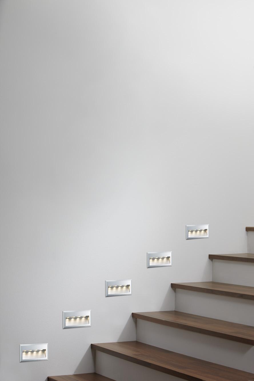 kit spot encastrable mural line wall led cross 1x4w 230v acier bross paulmann. Black Bedroom Furniture Sets. Home Design Ideas