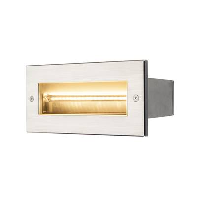 BRICK PRO LED, asymétrique, inox, 11W, 3000K, 230V, IP67 SLV
