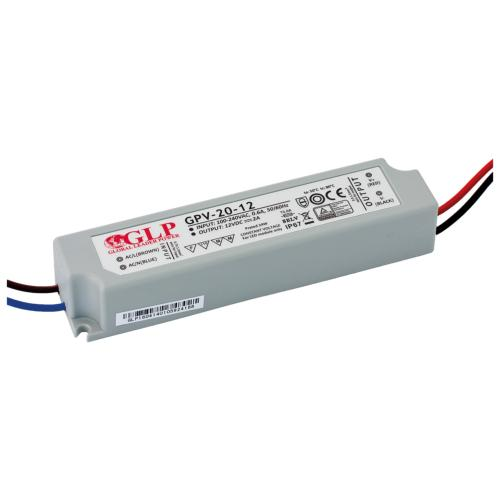 Alimentation électronique LED GLP 24W 240V/12VDC IP67 SELV