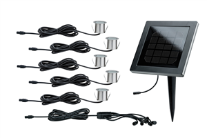 Kit spots encastrables solaire incl 5x0,2W LED PAULMANN.