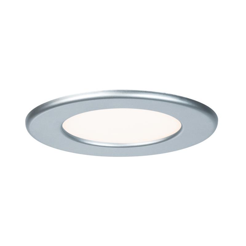 spot led encastrable extra plat 220v chrome mat 6w blanc chaud 350 lm paulmann. Black Bedroom Furniture Sets. Home Design Ideas