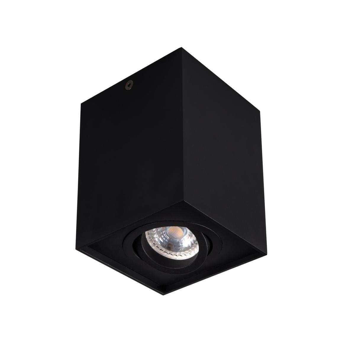 spot en saillie carr orientable 230v gu10 noir kanlux. Black Bedroom Furniture Sets. Home Design Ideas