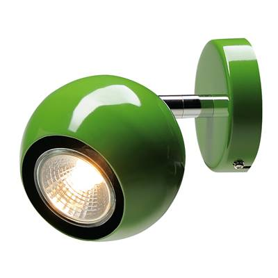 LIGHT EYE 1, applique et plafonnier, vert, GU10, max. 50W SLV