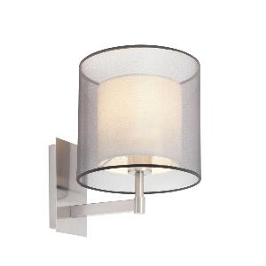 Applique SABA FARO max 1x40W E27 230V Nickel mat
