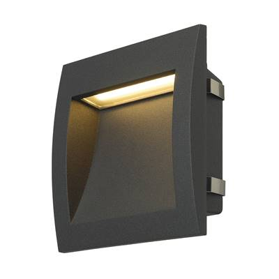 DOWNUNDER OUT LED L, encastré mural anthracite, LED 0.96W 3000K SLV
