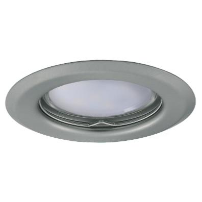 Spot encastrable Chrome mat fixe rond pour LED