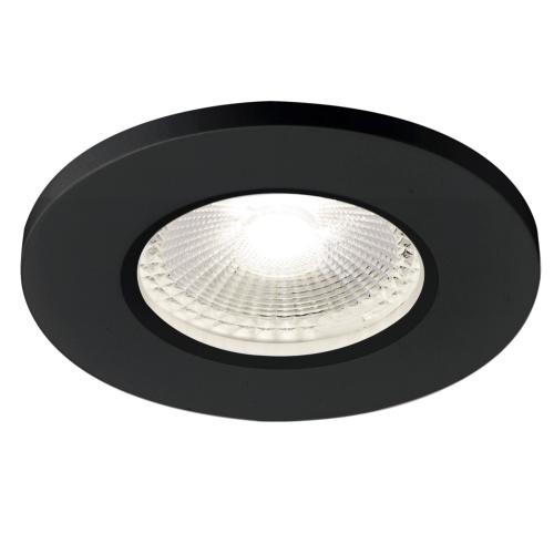 KAMUELA ECO LED, encastré, noir, LED 6,5W 4000K, 38°, variable, IP65 SLV