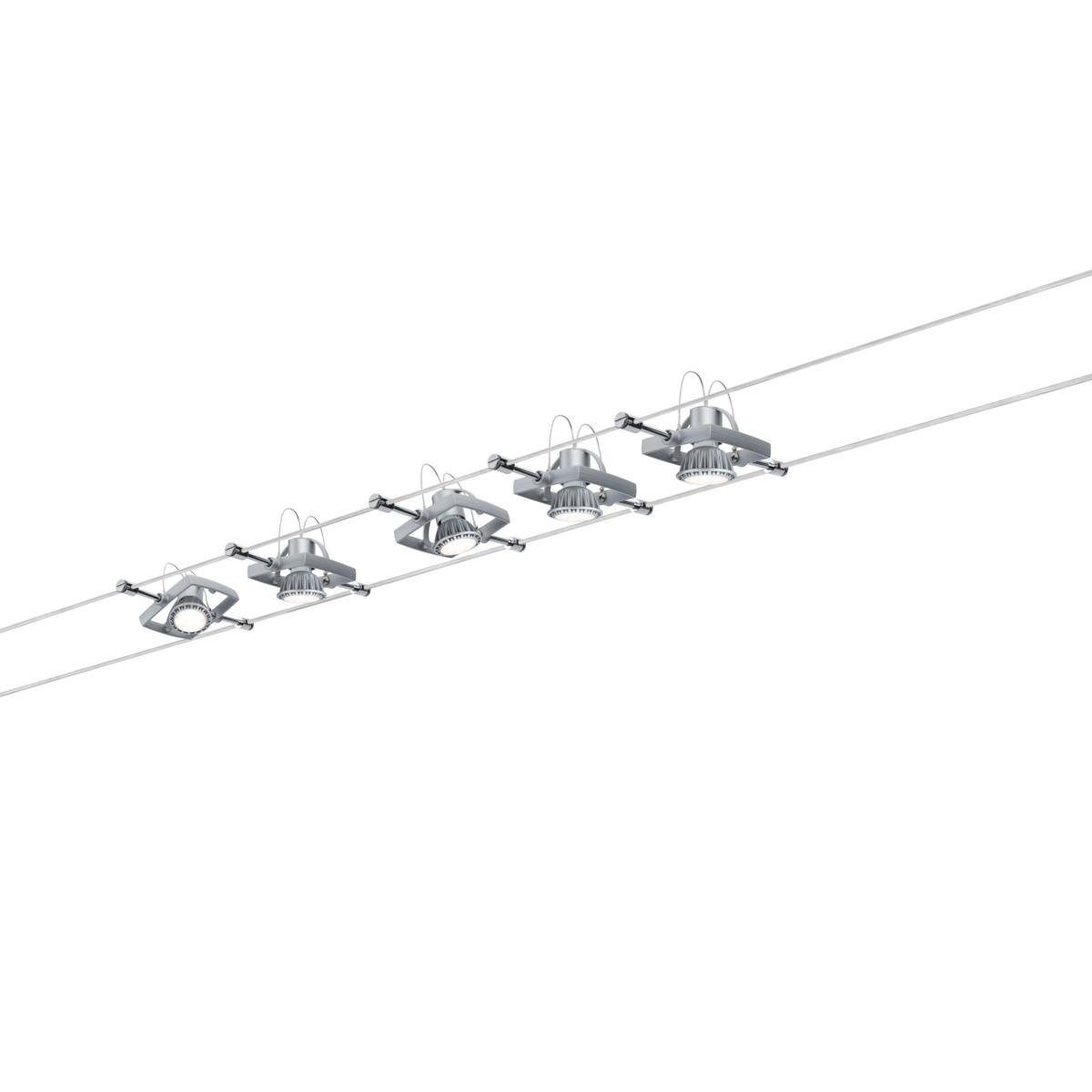 spot sur c ble tendu kit mac 2 sans ampoule s rie wire. Black Bedroom Furniture Sets. Home Design Ideas