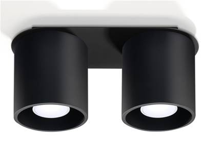 Plafonnier ORBIS 2 noir Sollux Lighting SL0054