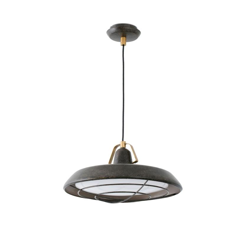 Suspension ext rieure plec faro ip44 marron vieilli for Suspension exterieure
