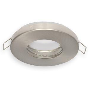 spot ip65 encastrable acier bross pour led ou halog ne. Black Bedroom Furniture Sets. Home Design Ideas