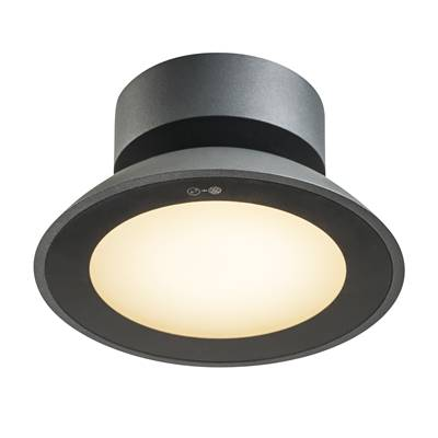 MALU CL, plafonnier anthracite, LED 9,2W 3000K, IP44 SLV