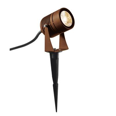 LED SPIKE spot sur piquet, rouille, LED 6W 3000K, IP55, 40° SLV
