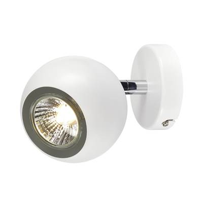 LIGHT EYE 1, applique et plafonnier, blanc/chrome, GU10, max. 50W SLV