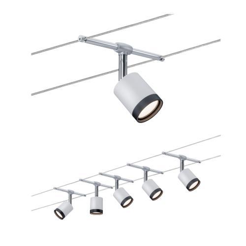 spot sur c ble tendu kit tubeled 5x4w s rie wire paulmann 3981. Black Bedroom Furniture Sets. Home Design Ideas