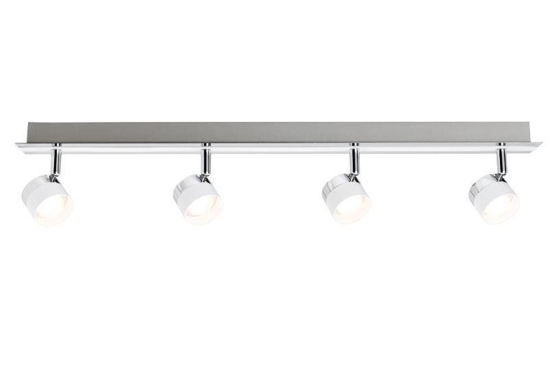 Plafonnier spot led Stage PAULMANN 4x3W LED Blanc Chrome