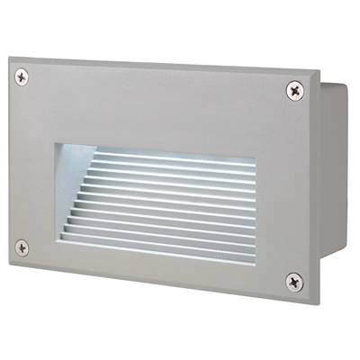 BRICK DOWNUNDER LED, encastré, rectangulaire, gris argent, LED 6500K SLV