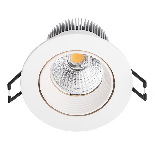 Spot led encastrable 8 5w 50w rond blanc chaud for Spot exterieur encastrable plafond